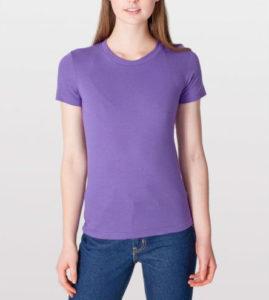 Фиолетовая женская футболка