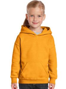 Желтая детская толстовка