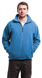 Голубая флисовая толстовка